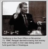 Reagan tetifys arm sales to Iran Oliver north Fox News