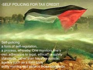 Self Policing for Tax Credit palestine_flag_waving