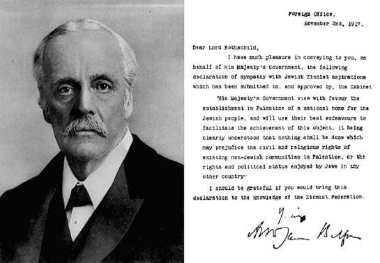 Syria Rothschild Israel Syria Contract Balfour_portrait_and_declaration