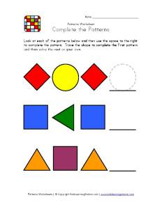 patterns-worksheet-1easy