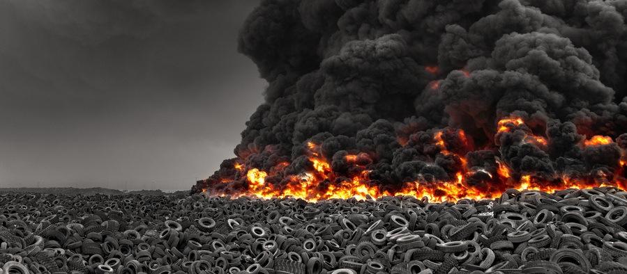 Image result for pile of burning car tires