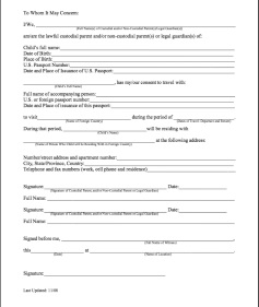 Parental consent permission letter