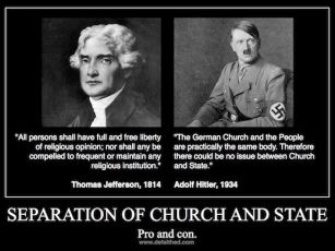 religion Separation church state hitler jefferson