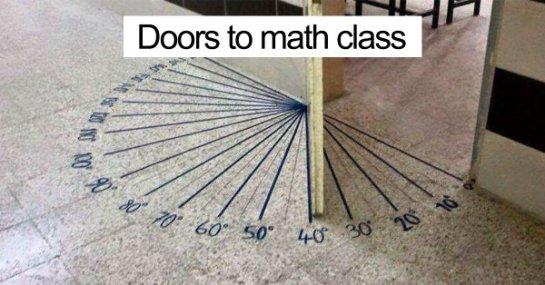 Doors to Math class